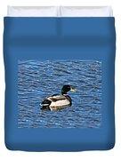 Mallard Swimming Duvet Cover
