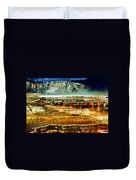 Mammoth Terrace - Yellowstone Duvet Cover by Ellen Heaverlo