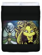 Man And Beast Duvet Cover