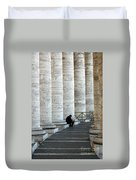 Man And Columns Duvet Cover
