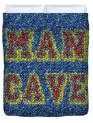 Man Cave Bottle Cap Mosaic Duvet Cover by Paul Van Scott