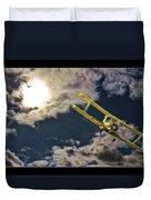 Man In Flight Duvet Cover