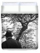 Man In Hat Duvet Cover