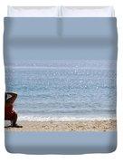 Man On Beach Duvet Cover