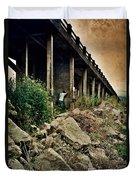 Man Under Bridge Duvet Cover