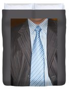 Man Wearing A Suit And Tie Duvet Cover