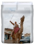 Man With His Camel Duvet Cover