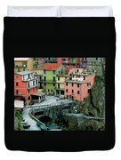 Manarola Houses On The Cinque Terre II Duvet Cover