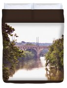Manayunk Bridge Along The Schuylkill River Duvet Cover