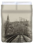 Manayunk From The Tressel Tracks Duvet Cover
