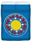 Mandala In Primary Colors Duvet Cover