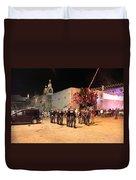 Manger Square At Night Duvet Cover