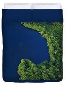 Mangrove Rhizophoraceae Stand, Bocas Duvet Cover