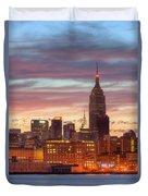 Manhattan Buildings And Pre-sunrise Sky Duvet Cover