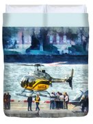 Manhattan Heliport Duvet Cover
