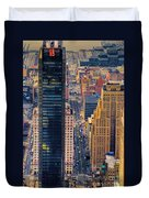 Manhattan Streets From Above Duvet Cover