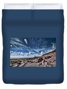 Manorbier Rocks Big Sky Duvet Cover