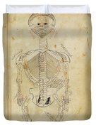Mansurs Anatomy, Skeletal System, 15th Duvet Cover