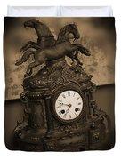 Mantel Clock Duvet Cover