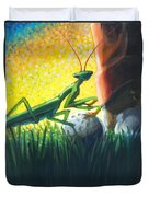 All Players Great And Small - Mantis Duvet Cover