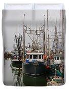 Many Fish Boats Duvet Cover