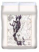 Map: Mississippi River, 1874 Duvet Cover
