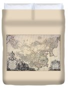 Map Of China, 1734 Duvet Cover