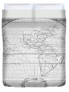 Map Of The New World 1587 Duvet Cover