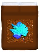 Maple Leaf On Pavement Duvet Cover