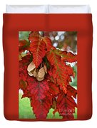Maple Leaves And Seeds Duvet Cover