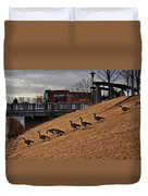 March To The Water Duvet Cover
