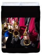 Marching Band Saxophones Cropped Duvet Cover