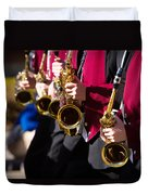 Marching Band Saxophones  Duvet Cover