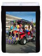 Mardi Gras Clowning Duvet Cover