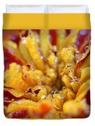 Marigold With Water Drops Duvet Cover