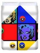Marilyn De Stijl Duvet Cover