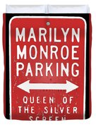 Marilyn Monroe Parking Duvet Cover