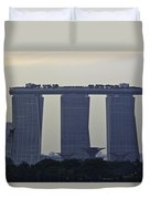 Marina Bay Sands As Seen From The Harbor Cruise Duvet Cover