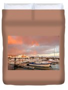 Marina In The Azores Duvet Cover