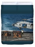 Marines Attach Cargo To An Mh-60s Sea Duvet Cover
