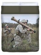 Marines Conduct A Simulated Attack Duvet Cover by Stocktrek Images