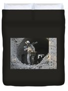 Marines Conduct Combat Operations Duvet Cover