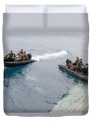 Marines Depart The Well Deck Duvet Cover