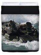Marines Drive An Amphibious Assault Duvet Cover