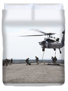 Marines Fast-rope Onto Their Objective Duvet Cover
