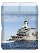 Marines In An Inflatable Boat Head Duvet Cover