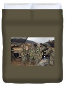 Marines Load A 98-pound High Explosive Duvet Cover