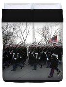 Marines Participate In The 2009 Duvet Cover