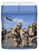 Marines Position Themselves Duvet Cover