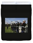 Marines Practices Drill Movements Duvet Cover